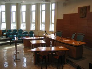 Courtroom from jury box