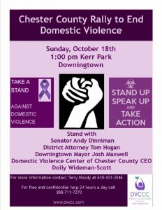 Chester County Domestic Violence Rally