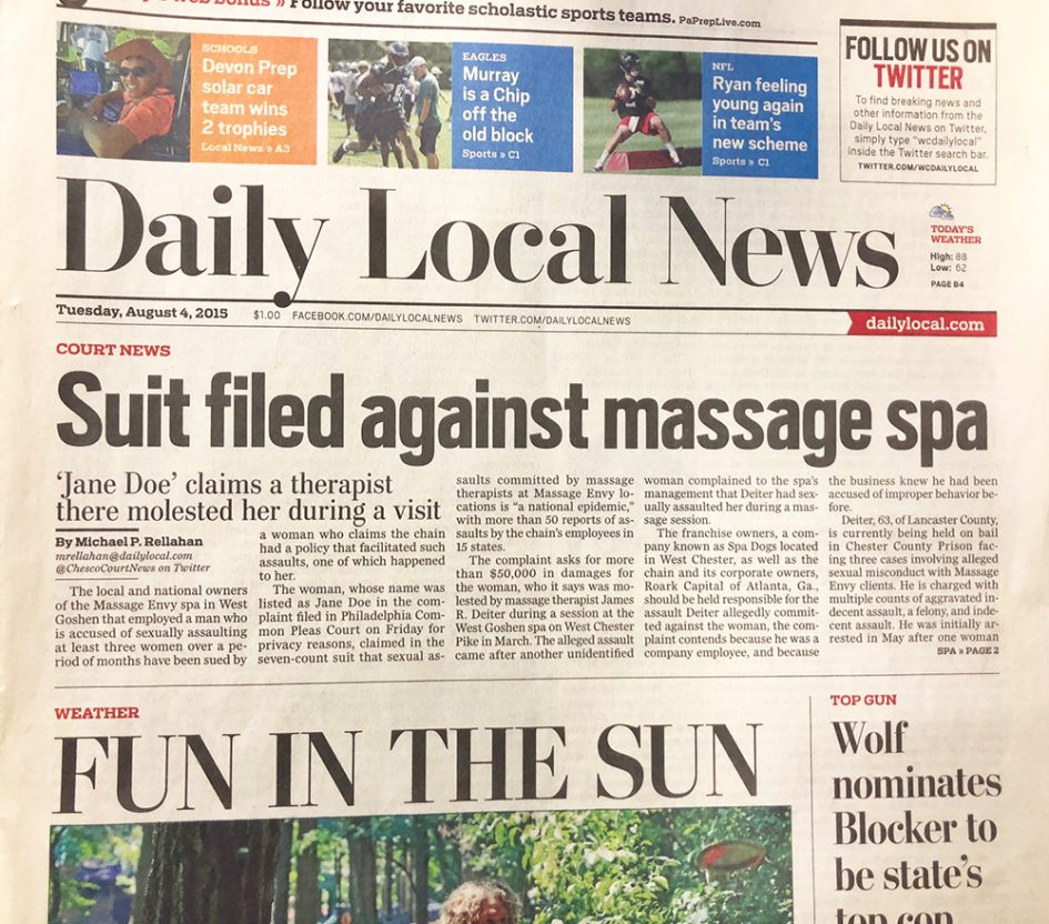 Daily Local Massage Spa Case